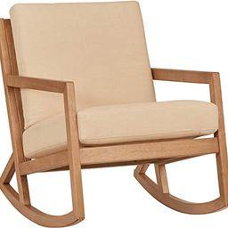 "Amazon Brand – Stone & Beam Modern Hardwood Rocking Chair, 24.5""W, Beige   Amazon (US)"