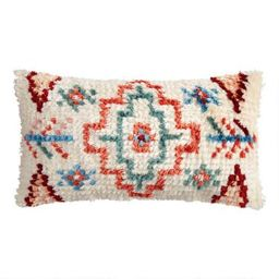 Multicolor Moroccan Shag Indoor Outdoor Lumbar Pillow | World Market