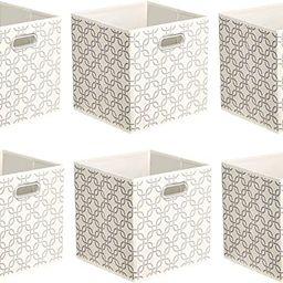 Amazon Basics Collapsible Fabric Storage Cubes with Oval Grommets - 6-Pack, Linked | Amazon (US)