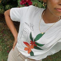Blossom Tropical Graphic T-shirt   Etsy (US)