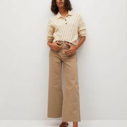 Jeans culotte high waist   MANGO (US)