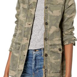 Lucky Brand Women's Long Sleeve Button Up Camo Printed Utility Jacket | Amazon (US)