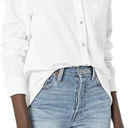 Lucky Brand Women's Long Sleeve Button Up One Pocket Classic Shirt | Amazon (US)