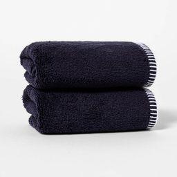 2pk Whip Stitch Border Hand Towel Set - Threshold™ | Target