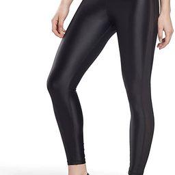 Core 10 by Reebok Women's High-Rise Shiny Leggings | Amazon (US)