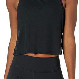 Core 10 Women's Ultra-Lightweight Semi-Sheer Ribbed Knit Yoga Crop Tank | Amazon (US)