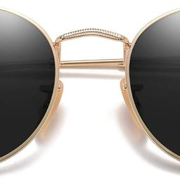 SOJOS Small Round Polarized Sunglasses for Women Men Classic Vintage Retro Shades UV400 SJ1014 | Amazon (US)