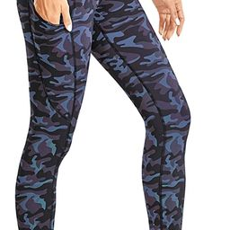 CRZ YOGA Women's Naked Feeling Workout Leggings 25 Inches - High Waisted Yoga Pants with Side Poc... | Amazon (US)