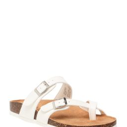 Time and Tru - Time and Tru Women's Toe Thong Footbed Slide Sandal, Sizes 6-9 (Wide Width Availab... | Walmart (US)