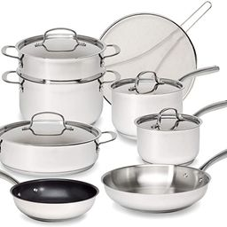 Goodful Classic Stainless Steel Cookware Set with Tri-Ply Base, Impact Bonded Pots and Pans, Dish...   Amazon (US)
