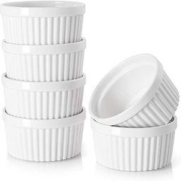 DOWAN 4 oz Ramekins - Ramekins for Creme Brulee Porcelain Ramekins Oven Safe, Classic Style Ramek...   Amazon (US)