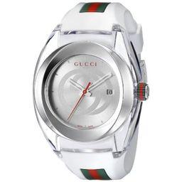 Gucci Sync XXL White Rubber Unisex Watch YA137102   Walmart (US)