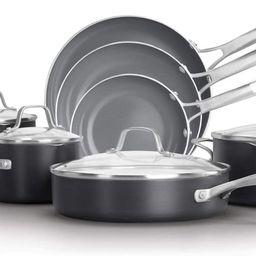 Calphalon Classic Oil-Infused Ceramic PTFE and PFOA Free Cookware, 11-Piece Pots and Pans Set, Da... | Amazon (US)