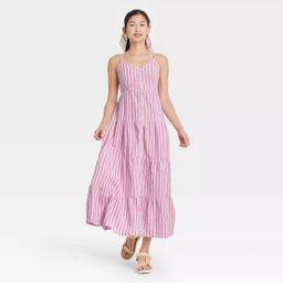 Women's Sleeveless Button-Front Tiered Dress - Universal Thread™ | Target