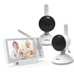 Baby Monitor 2 Camera 4.3 Inches LCD Split Screen 1000ft Range Rechargeable Battery with 2 Way Au... | Amazon (US)