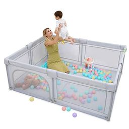 Baby Playpen Extra Large Playyard for Toddler - Reliable Kids Activity Center for Infant, Sturdy ... | Amazon (US)