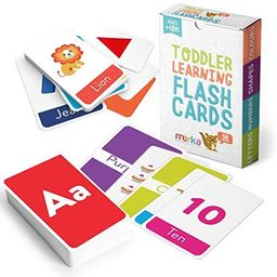 merka Educational Flashcards for Toddlers - Learn Letters Colors Shapes Numbers, Animals and Alph... | Amazon (US)