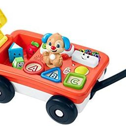 Fisher-Price Laugh & Learn Pull & Play Learning Wagon, pull-toy wagon with music, lights, and lea... | Amazon (US)