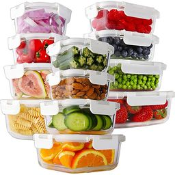 Bayco 24 Piece Glass Food Storage Containers with Lids, Glass Meal Prep Containers, Airtight Glas...   Amazon (US)