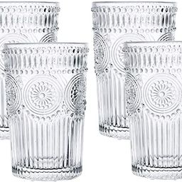 Kingrol 4 Pack 12.5 oz Romantic Water Glasses, Premium Drinking Glasses Tumblers, Vintage Glasswa...   Amazon (US)