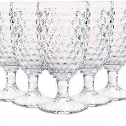 Hobnail Old Fashioned Iced Beverage Goblet 13 oz. set of 6, Premiun Glass Set for Wine, Soda & Ju...   Amazon (US)