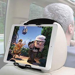 Macally Headrest Tablet Holder for Car Back Seat - iPad Car Mount for Kids with Adjustable Strap ... | Amazon (US)