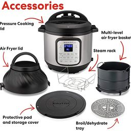 Instant Pot Duo Crisp 11 in 1, Electric Pressure Cooker with Air Fryer, Roast, Bake, Dehydrate, S... | Amazon (US)