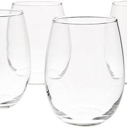 Amazon Basics Stemless Wine Glasses (Set of 4), 15 oz | Amazon (US)