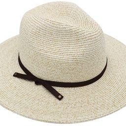 JENDI Womens Wide Brim Straw Panama Sun Hat Foldable/Packable Beach Fedora Sun Hat for Summer UV ... | Amazon (US)