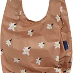 BAGGU Small Reusable Shopping Bag, Ripstop Nylon Grocery Tote or Lunch Bag, Painted Daisy | Amazon (US)