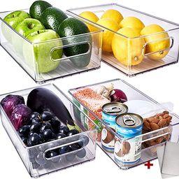 Fullstar Fridge Organizer Bins - Refrigerator Organizer Bins Freezer Organizer Stackable Refriger... | Amazon (US)