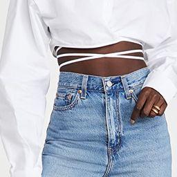 Hideaway Crop Shirt | Shopbop