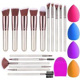 BESTOPE Makeup Brushes 16PCs Makeup Brushes Set with 4PCs Makeup Sponge and 1 Brush Cleaner Premi...   Amazon (US)