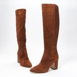 Sam Edelman Suede Tall Shaft Boots - Hai | QVC