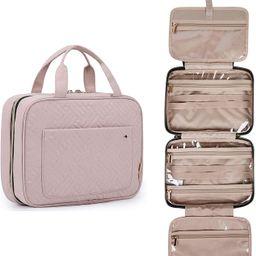 BAGSMART Toiletry Bag Travel Bag with Hanging Hook, Water-resistant Makeup Cosmetic Bag Travel Or...   Amazon (US)