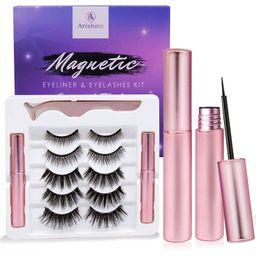 Arishine Magnetic Eyeliner and Lashes Kit, Magnetic Eyeliner for Magnetic Lashes Set, With Reusab...   Amazon (US)