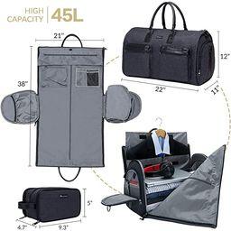 Modoker Convertible Garment Bag with Toiletry Bag, Carry On Garment Duffel Bag for Men Women Trav...   Amazon (US)