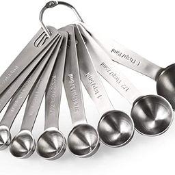Measuring Spoons: U-Taste 18/8 Stainless Steel Measuring Spoons Set of 9 Piece: 1/16 tsp, 1/8 tsp...   Amazon (US)