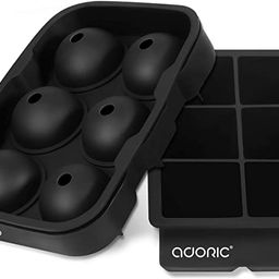 Adoric Ice Cube Trays Silicone Set of 2, Sphere Ice Ball Maker with Lid and Large Square Ice Cube...   Amazon (US)