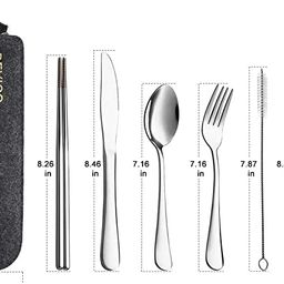 Devico Portable Utensils, Travel Camping Cutlery Set, 8-Piece including Knife Fork Spoon Chopstic...   Amazon (US)