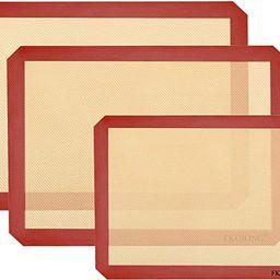 "Silicone Baking Mats - Nonstick Large Baking Mat Set of 3-2 Half Sheets Mats (11 5/8"" x 16 1/2"") ...   Amazon (US)"
