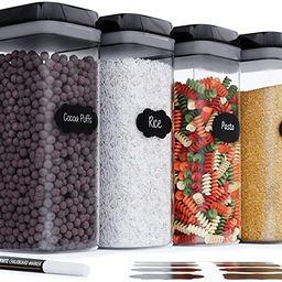 Airtight Extra Large Food Storage Container - Set of 4, All Same Size - Kitchen & Pantry Organiza... | Amazon (US)