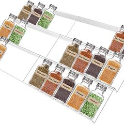 Acrylic Spice Rack Tray Drawer Organizer Clear Invisible Spice Rack Expandable Spice Drawer Organ... | Amazon (US)