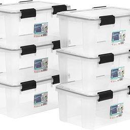 IRIS USA 19 Quart Clear and Black Air Tight/ Waterproof/ Weather Tight Plastic Storage Bin Tote O...   Amazon (US)