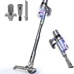 WOVIDA Cordless Stick Vacuum Cleaner, 350W 25KPa Powerful Suction Lightweight Handheld Stick Vacu... | Amazon (US)