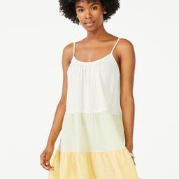 Scoop Women's Color Block Trapeze Sundress | Walmart (US)