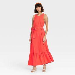 Women's Sleeveless Ruffle Hem Dress - A New Day™   Target
