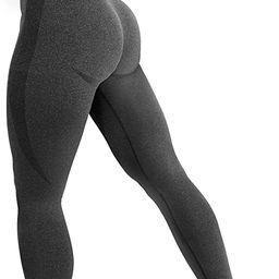 YEOREO Women High Waist Workout Gym Smile Contour Seamless Leggings Yoga Pants Tights | Amazon (US)