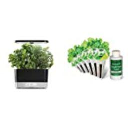 AeroGarden Black Harvest Indoor Hydroponic Garden, 2019 Model & Salad Greens Mix Seed Pod Kit | Amazon (US)