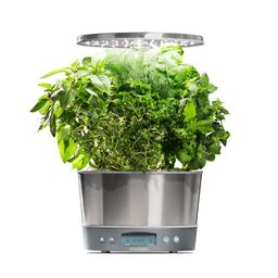 AeroGarden Harvest Elite 360 Stainless Home Garden System | The Home Depot